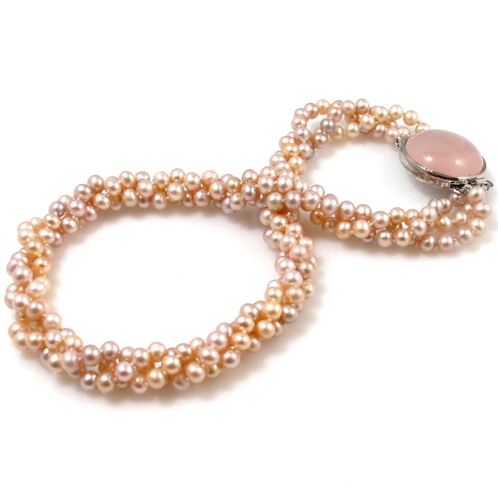 Pearl Colour: Apricot Pink; Pearl Size: 5mm; Pearl Shape: Round; Pearl  Overtone: Silver; Pearl Lustre: Very Good; Pearl Quality Rating: A+; Number  Of Pearls