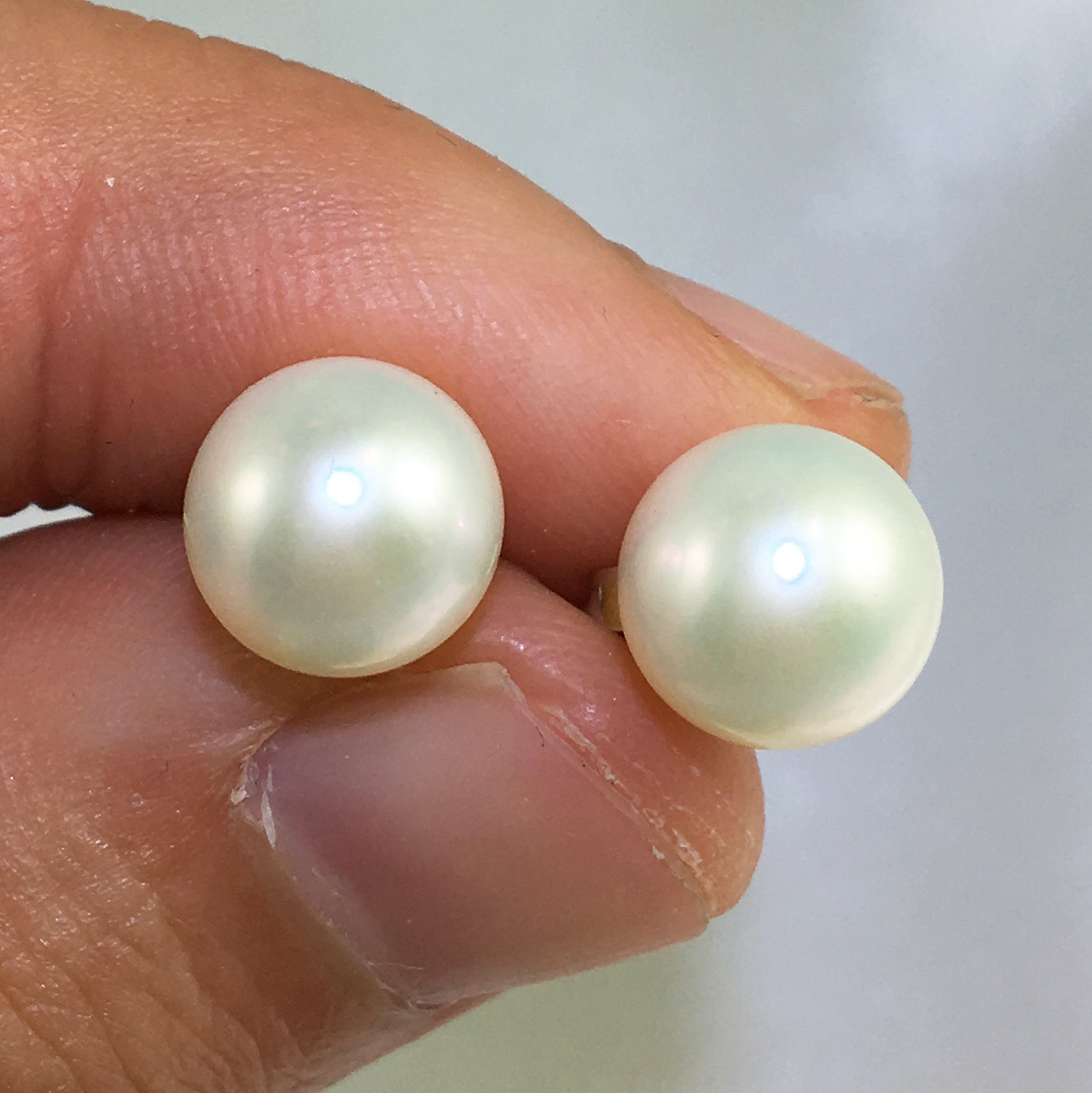 self beads backed adhesive silver flat pearls round