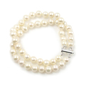 Claire - double strand bridal pearl bracelet, made with top quality AA+ pearls, matching necklace 'Claire' available