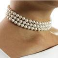 freshwater pearl wedding choker three strand