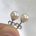 Shirley Temple AAA+ small pearl ear studs, extremely high lustre