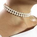 Portofino - double strand wedding freshwater pearl necklace by Jacqueline Shaw London