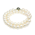 Doris Day - luxurious large single strand freshwater pearl necklace, ideal as wedding necklace