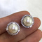 pearl martini - pearl ear studs by Jacqueline Shaw London
