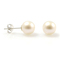 Lucy Neige - perfectly round classic 7.5mm pearl ear studs, perfect bridal or bridesmaids earrings