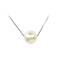 Rae - large single pearl pendant necklace on silver chain