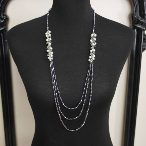 Crystal And Glass Pearl Necklaces