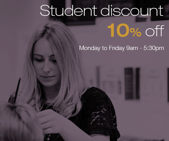 Students get a 20% Discount -- Monday to Friday 9am - 5:30pm Only