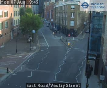 East Road / Vestry Street traffic camera.