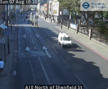 A10 North of Shenfield Street traffic camera.