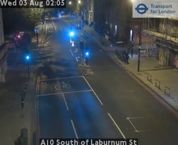 A10 South of Laburnum Street traffic camera.