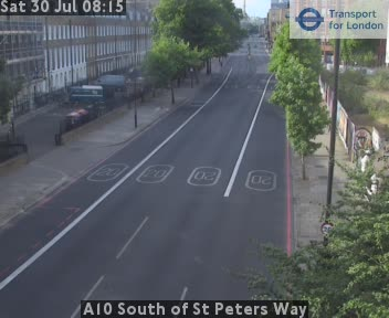 A10 South of St Peters Way traffic camera.