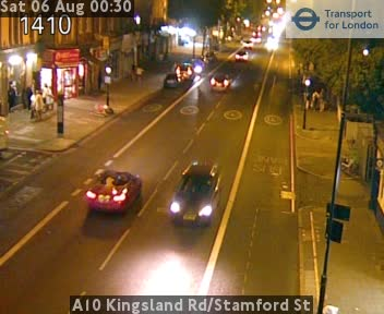 A10 Kingsland Road / Stamford Street traffic camera.