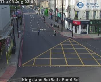 Kingsland Road / Balls Pond Road traffic camera.