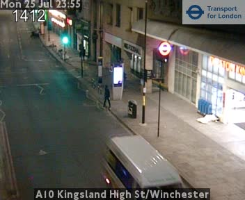 A10 Kingsland High Street / Winchester traffic camera.