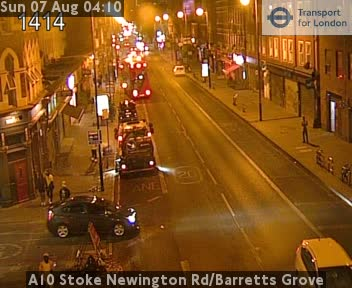 A10 Stoke Newington Road / Barretts Grove traffic camera.