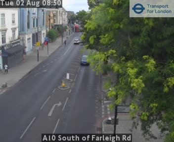 A10 South of Farleigh Road traffic camera.