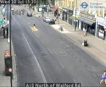 A10 North of Walford Road traffic camera.