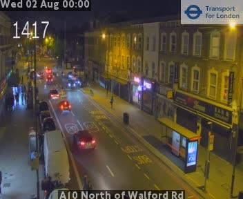 A10 North of Walford Road traffic camera.