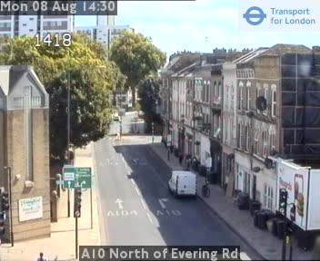 A10 North of Evering Road traffic camera.