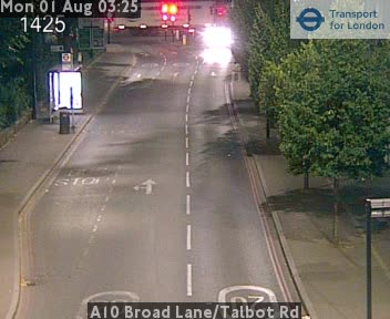 A10 Broad Lane / Talbot Road traffic camera.