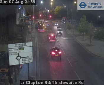 Lower Clapton Road / Thislewaite Road traffic camera.