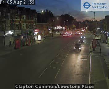 Clapton Common / Lewstone Place traffic camera.