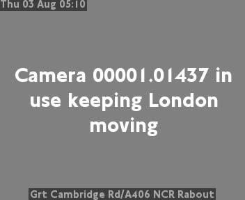 Great Cambridge Road / A406 North Circular Road Roundabout traffic camera.