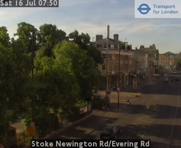 Stoke Newington Road / Evering Road traffic camera.