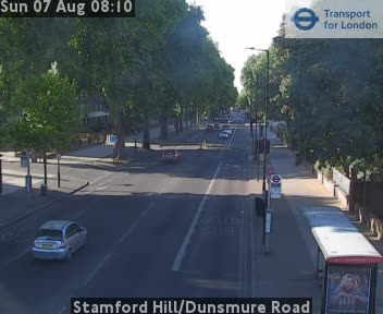 Stamford Hill / Dunsmure Road traffic camera.