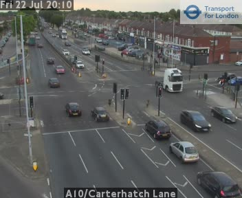 A10 / Carterhatch Lane traffic camera.