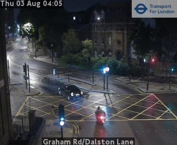 Graham Road / Dalston Lane traffic camera.