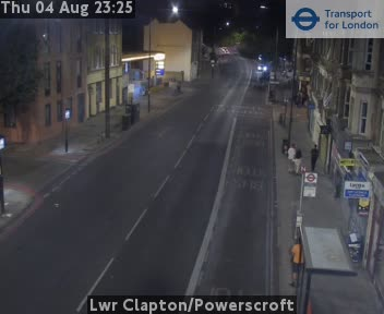 Lower Clapton / Powerscroft traffic camera.