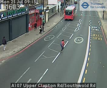 A107 Upper Clapton Road / Southwold Road traffic camera.