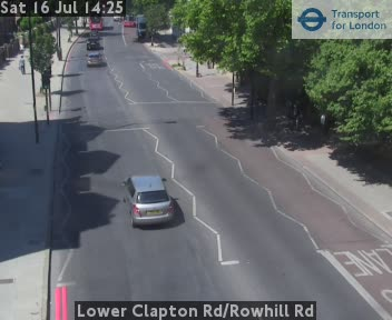 Lower Clapton Road / Rowhill Road traffic camera.