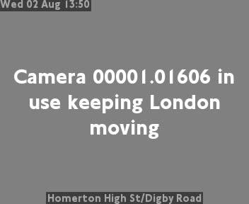 Homerton High Street / Digby Road traffic camera.