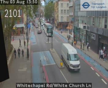 Whitechapel Road / White Church Lane traffic camera.