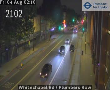 Whitechapel Road  /  Plumbers Row traffic camera.