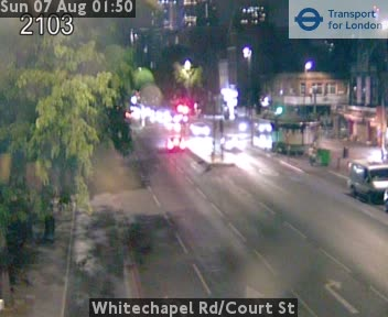Whitechapel Road / Court Street traffic camera.