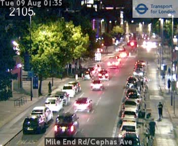 Mile End Road / Cephas Avenue traffic camera.