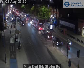 Mile End Road / Globe Road traffic camera.