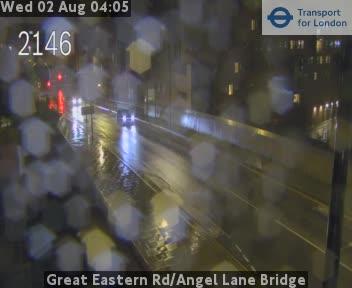 Great Eastern Road / Angel Lane Bridge traffic camera.