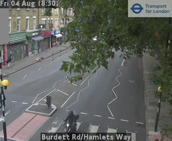 Burdett Road / Hamlets Way traffic camera.