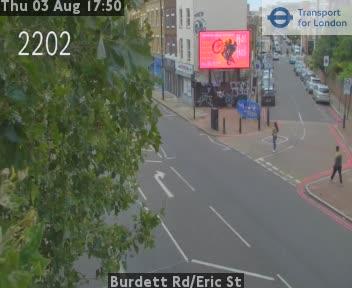 Burdett Road / Eric Street traffic camera.