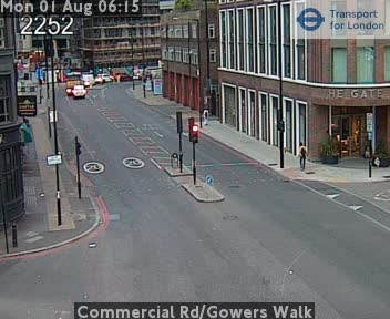 Commercial Road / Gowers Walk traffic camera.