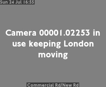 Commercial Road / New Road traffic camera.