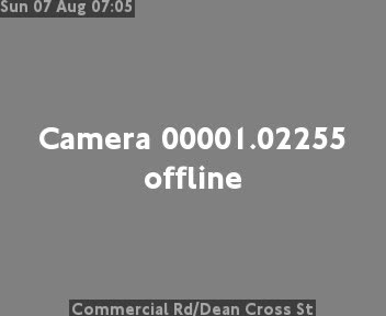 Commercial Road / Dean Cross Street traffic camera.