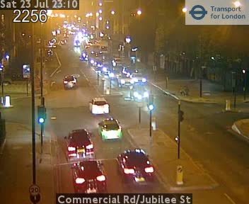 Commercial Road / Jubilee Street traffic camera.