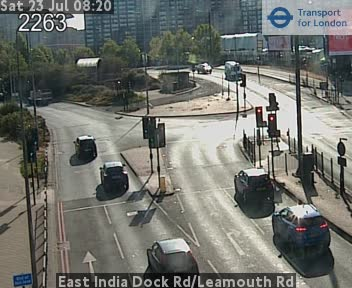 East India Dock Road / Leamouth Road traffic camera.
