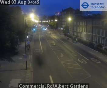 Commercial Road / Albert Gardens traffic camera.